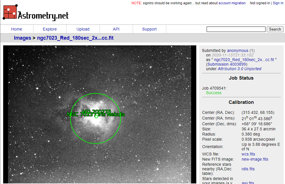 Astrometry.Net Results