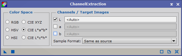 Channel extraction luminance