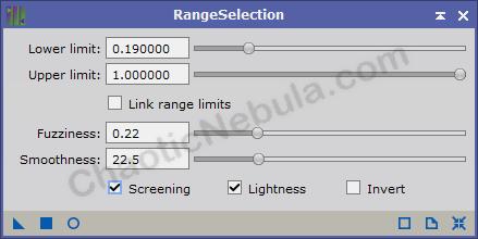 range selection for screening option