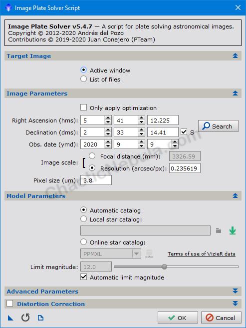 PixInsight Image Solver