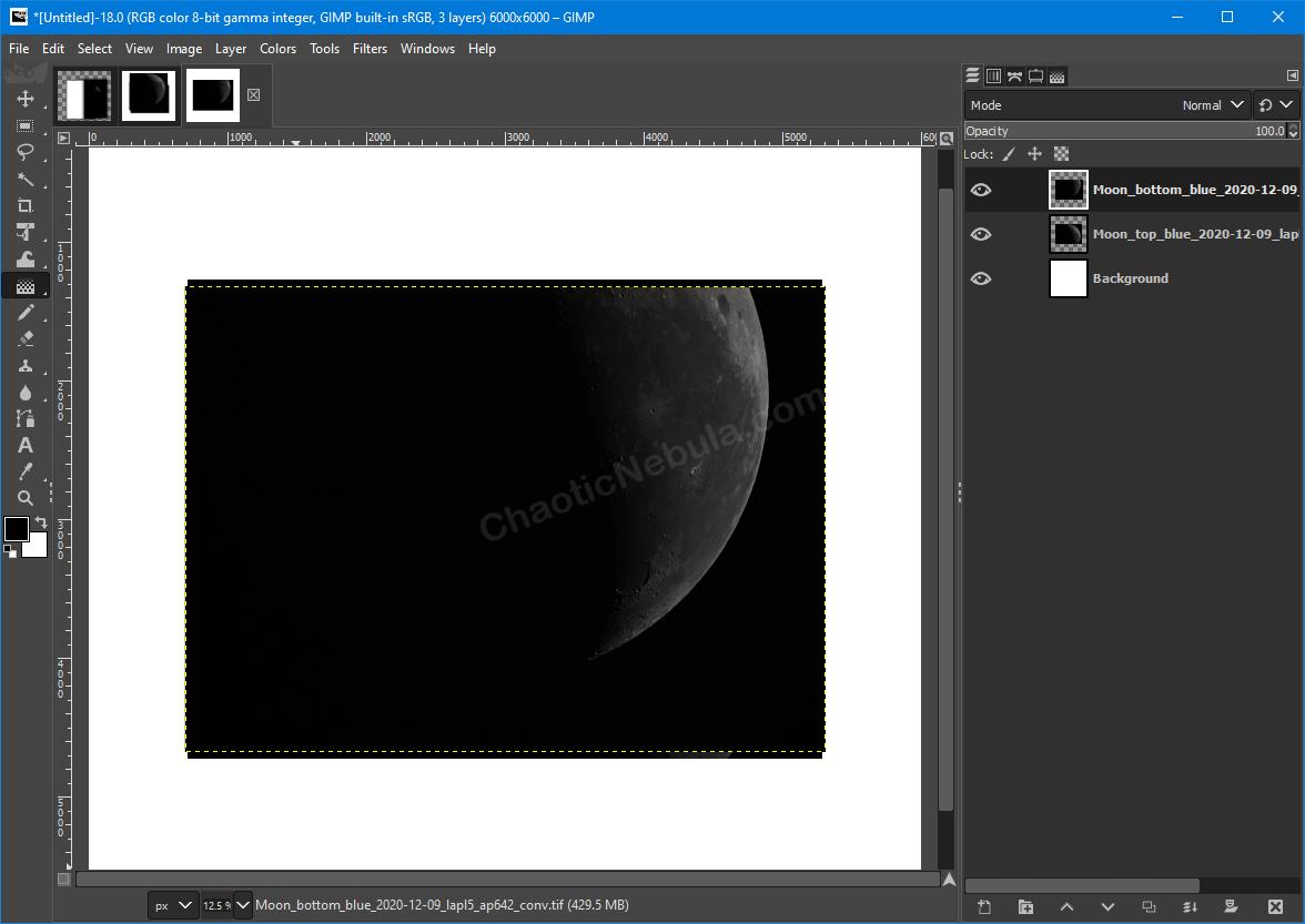 GIMP New Layers