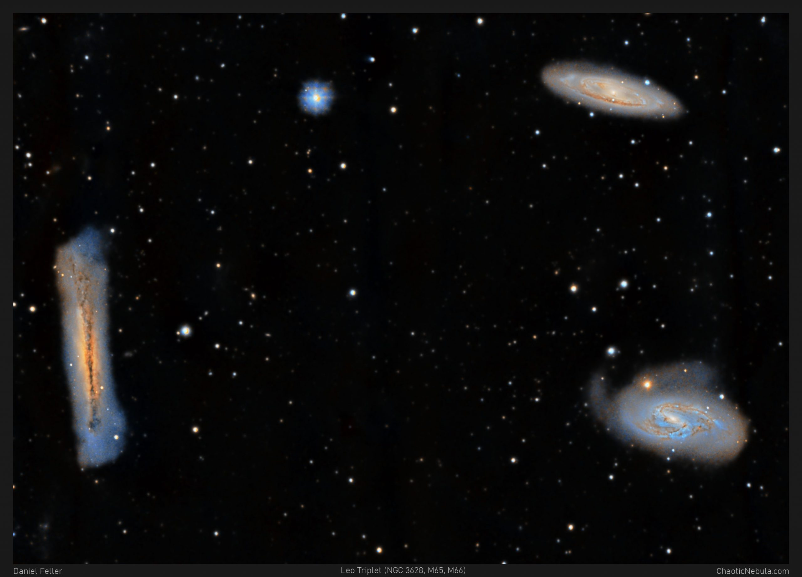Read more about the article Leo Triplet (M65, M66, and NGC 3628