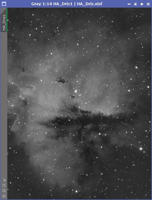 The Pacman Nebula - Hydrogen-Alpha