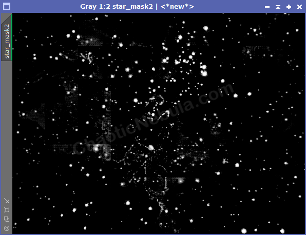 Failed StarNet Star Mask