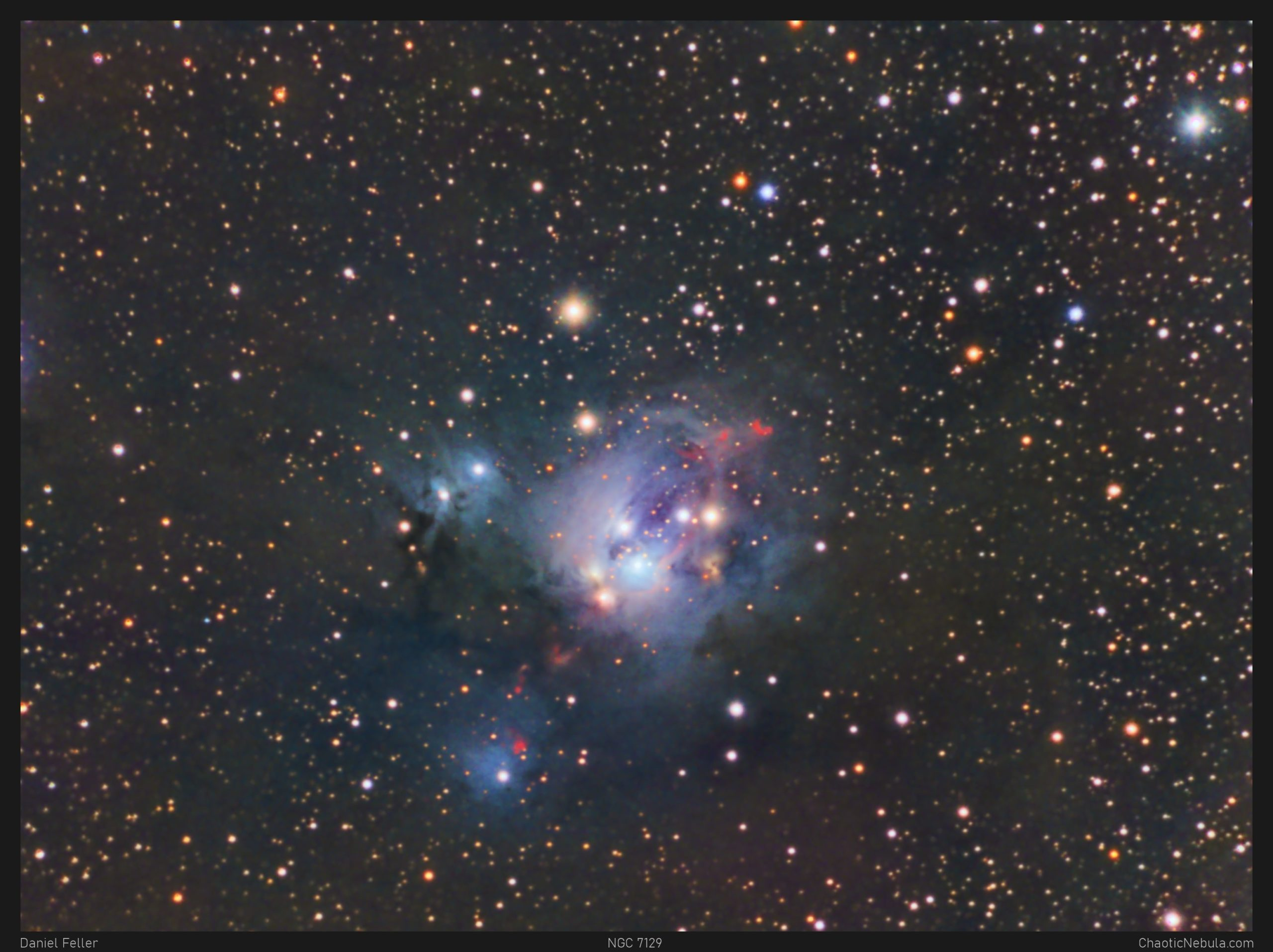 Read more about the article NGC 7129 – Reflection Nebula in Cepheus